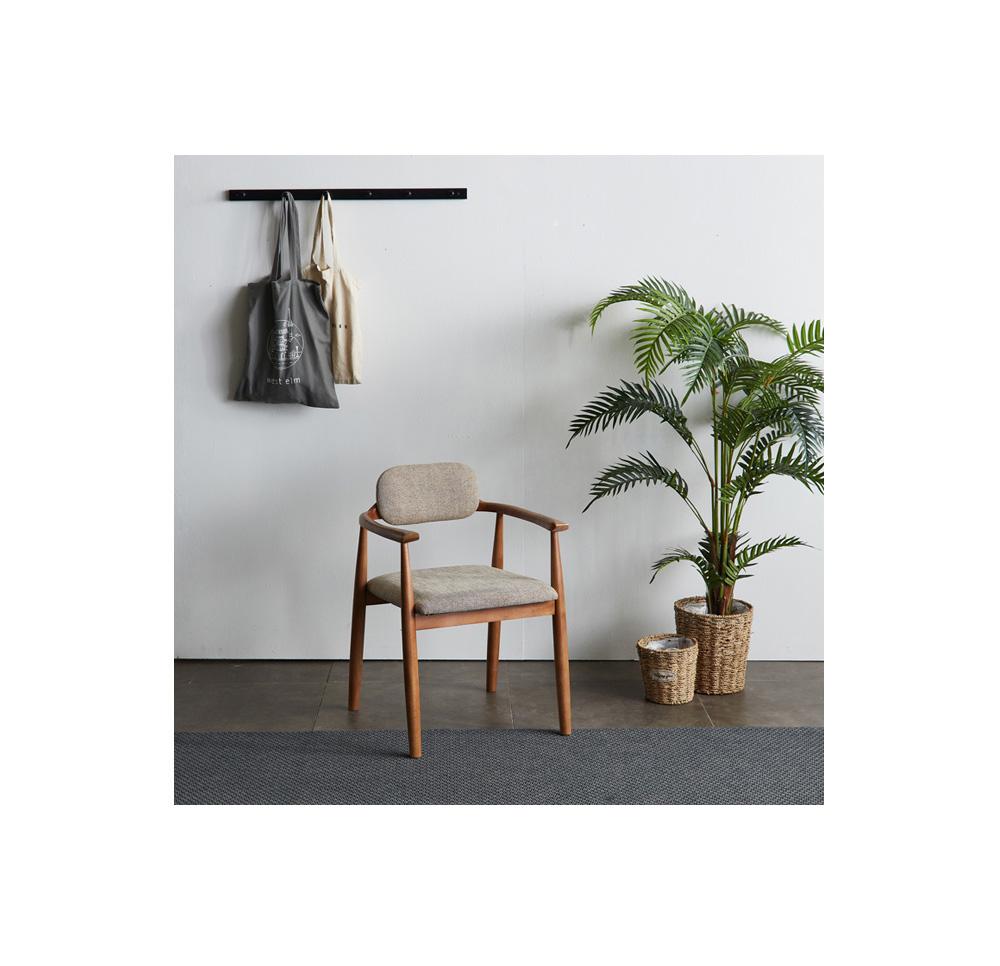 리치 패브릭 원목 식탁의자 챠콜 - 웨어하우스, 90,320원, 식탁/의자, 식탁 의자