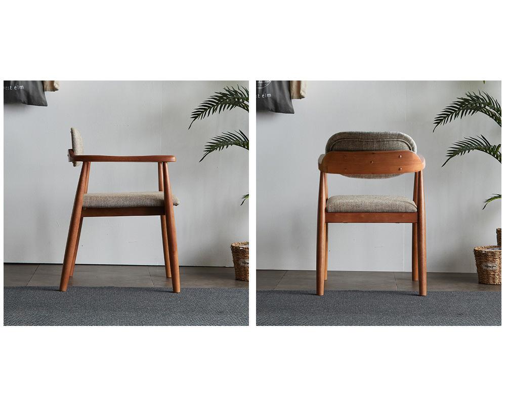 리치 패브릭 원목 식탁의자 베이지 - 웨어하우스, 112,900원, 식탁/의자, 식탁 의자