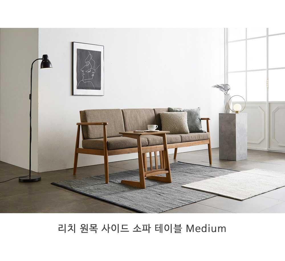 리치 원목 사이드 소파 테이블 Small - 웨어하우스, 78,900원, 미니 테이블, 노트북 테이블
